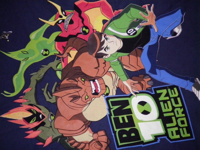 BEN 10 SHIRT Alien Force group pic blue youth XL NEW