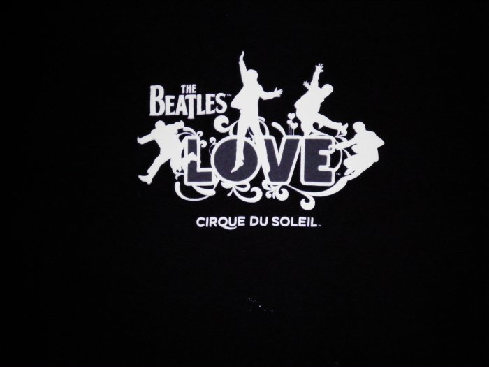 THE BEATLES SHIRT Love cirque du soleil black L