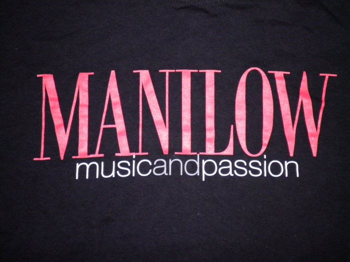 BARRY MANILOW SHIRT Music and Passion black M