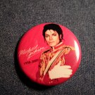 MICHAEL JACKSON PINBACK BUTTON 1958-2009 red licensed NEW