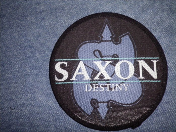 SAXON sew-on PATCH Destiny logo VINTAGE