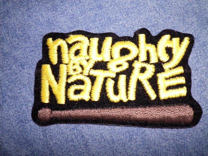 NAUGHTY BY NATURE iron-on PATCH baseball bat logo rap VINTAGE
