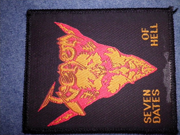 VENOM sew-on PATCH Seven Dates Of Hell metal VINTAGE