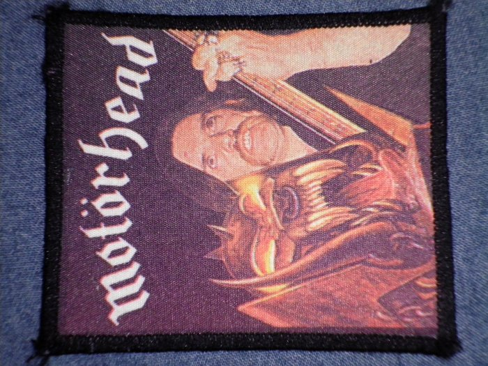 MOTORHEAD sew-on PATCH Lemmy orgasmatron VINTAGE