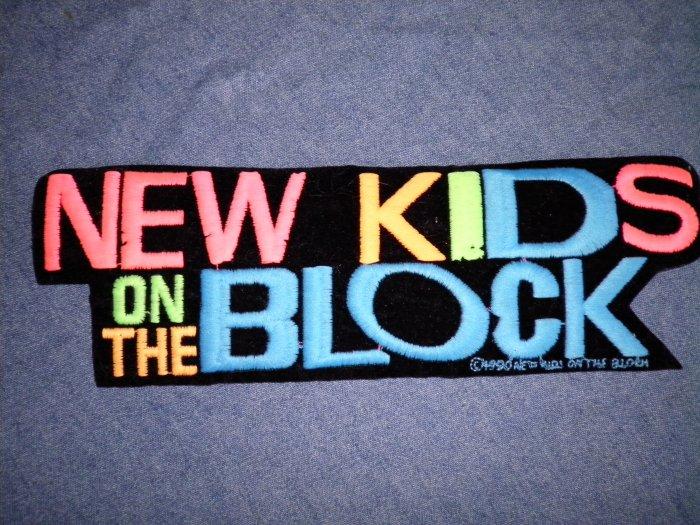 NEW KIDS ON THE BLOCK iron-on PATCH nkotb logo VINTAGE 80s JUMBO