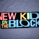 NEW KIDS ON THE BLOCK iron-on PATCH nkotb logo VINTAGE 80s JUMBO