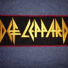 DEF LEPPARD iron-on PATCH rectangle logo VINTAGE JUMBO