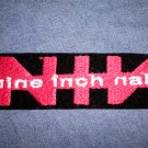 NINE INCH NAILS iron-on PATCH nin red logo VINTAGE 90s