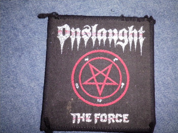 ONSLAUGHT sew-on PATCH The Force VINTAGE