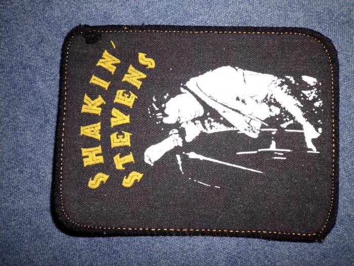 SHAKIN STEVENS sew-on PATCH pic w/guitar VINTAGE