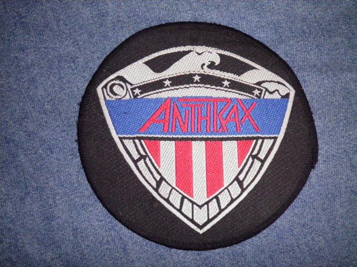 ANTHRAX sew-on PATCH eagle flag logo VINTAGE