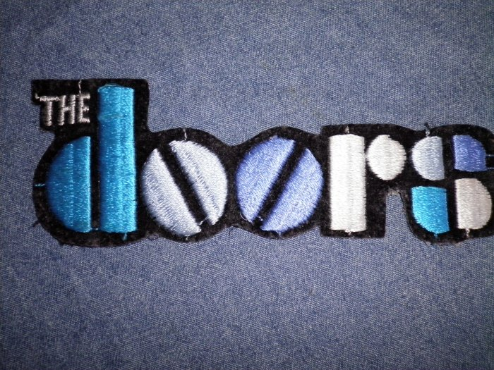THE DOORS iron-on PATCH multicolor logo VINTAGE 80s