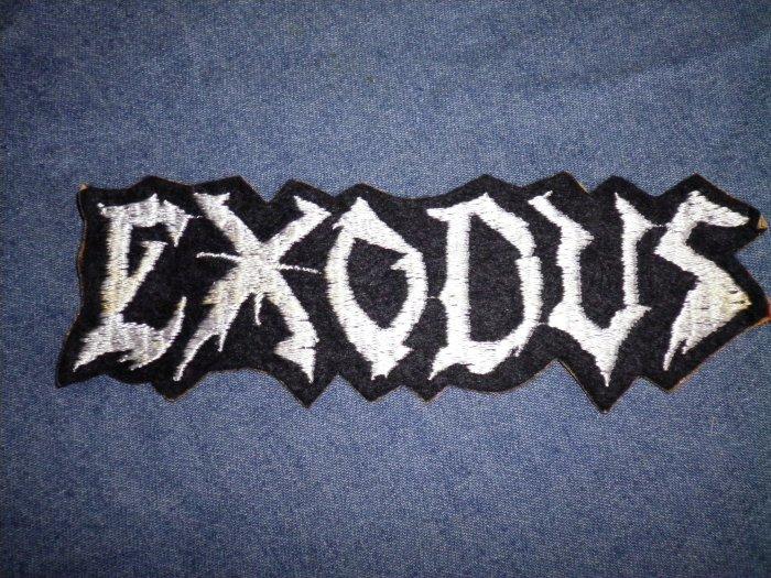 EXODUS iron-on PATCH white logo metal VINTAGE 80s
