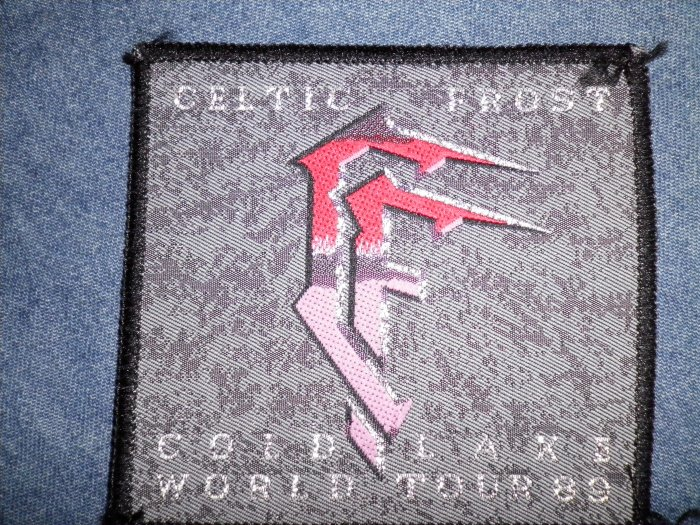 CELTIC FROST sew-on PATCH Cold Lake World Tour 89 VINTAGE