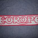 EUROPE iron-on PATCH red/grey logo VINTAGE JUMBO