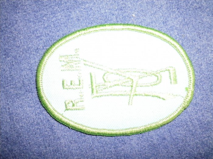 R.E.M. iron-on PATCH rem green logo VINTAGE 90s SALE