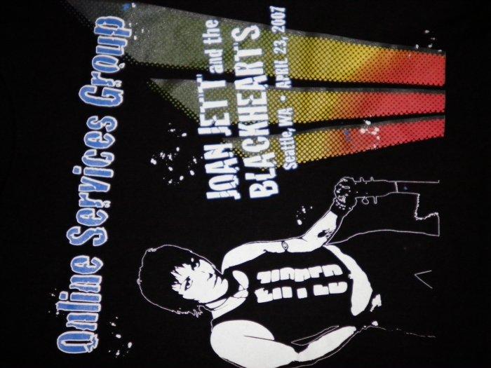 JOAN JETT SHIRT private msn concert 2007 blackhearts S NEW