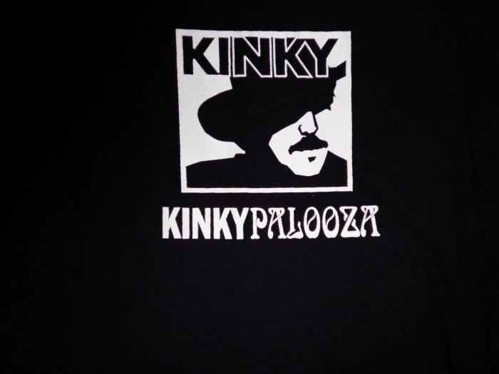 KINKY FRIEDMAN SHIRT Kinkypalooza joe king carrasco jimmy spacek texas L HTF