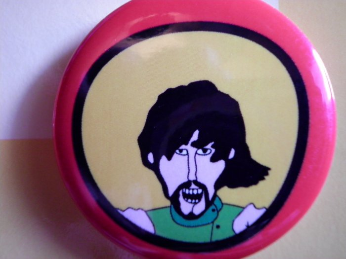 THE BEATLES PINBACK BUTTON Yellow Submarine george harrison NEW