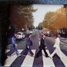 THE BEATLES PINBACK BUTTON Abbey Road album square NEW