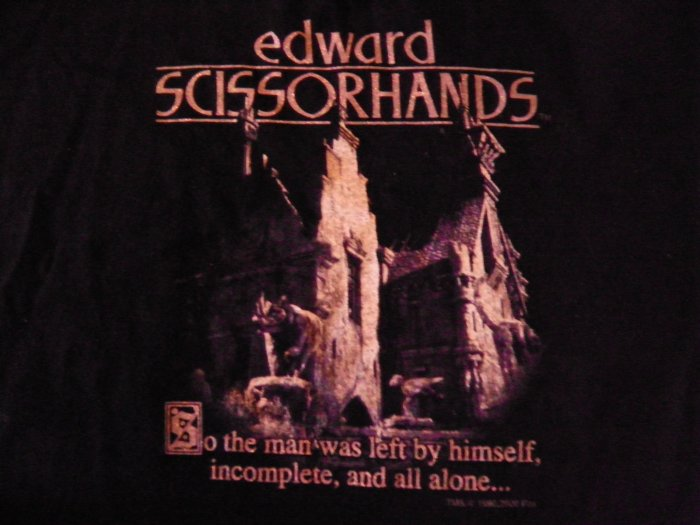 EDWARD SISSORHANDS SHIRT All Alone castle youth M SALE