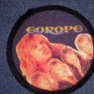 EUROPE sew-on PATCH color band photo round VINTAGE