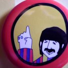 THE BEATLES PINBACK BUTTON Yellow Submarine ringo starr NEW