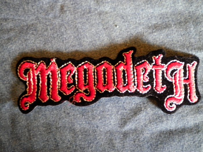 MEGADETH iron-on PATCH original logo VINTAGE