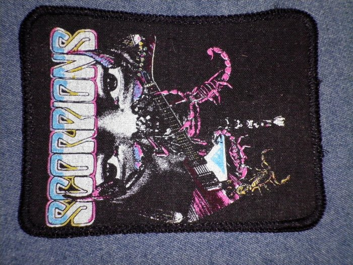 SCORPIONS sew-on PATCH guitar eyes VINTAGE
