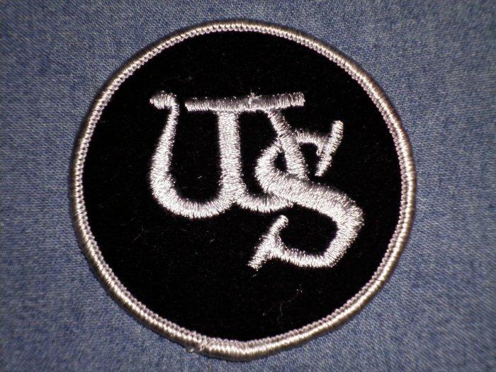 WHITESNAKE iron-on PATCH grey border round ws logo VINTAGE