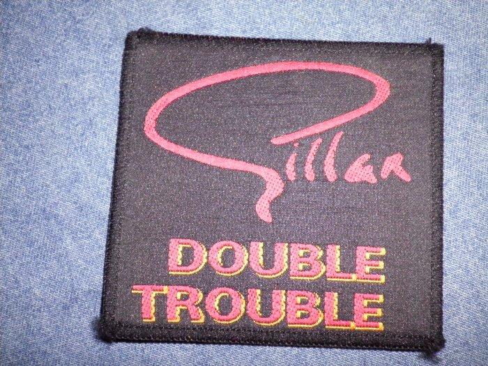 IAN GILLAN sew-on PATCH Double Trouble deep purple VINTAGE