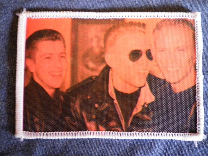 BROS sew-on PATCH group band photo VINTAGE