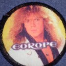 EUROPE sew-on PATCH Joey Tempest photo round VINTAGE