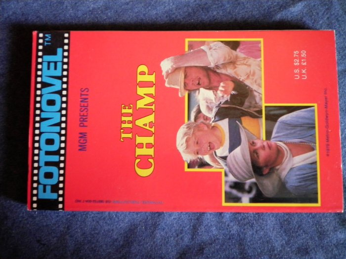 FOTONOVEL THE CHAMP rick schroder jon voight movie book VINTAGE