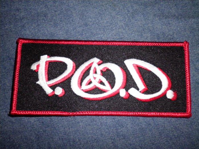 P.O.D. iron-on PATCH original logo payable on death pod
