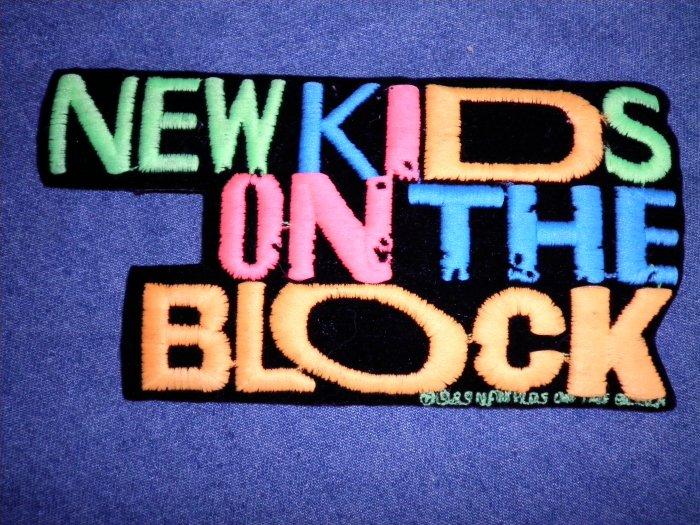 NEW KIDS ON THE BLOCK iron-on PATCH nkotb logo VINTAGE 80s MEDIUM