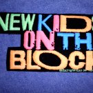 NEW KIDS ON THE BLOCK iron-on PATCH nkotb logo VINTAGE 80s MEDIUM