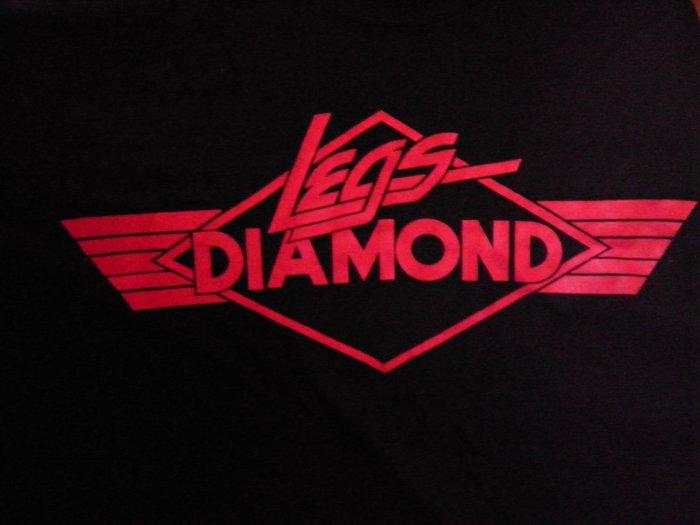 LEGS DIAMOND TOUR SHIRT red logo XL VINTAGE 80s