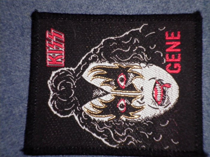 KISS sew-on PATCH Gene Simmons face VINTAGE