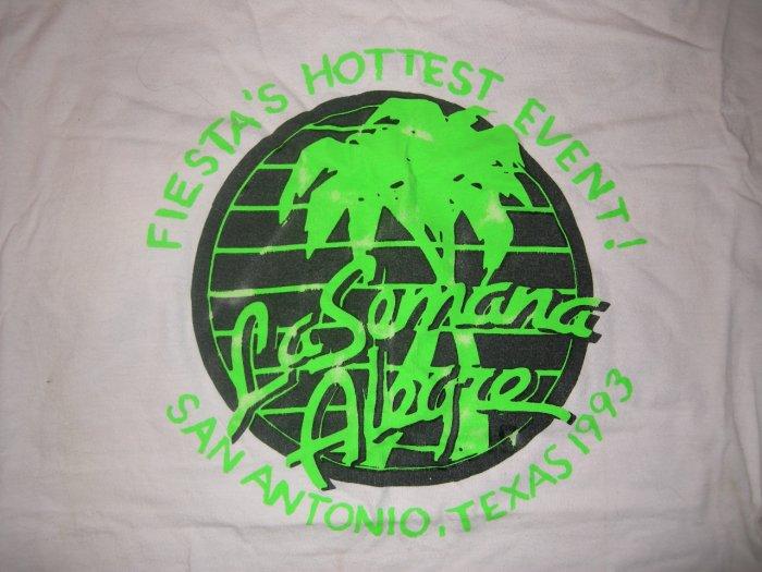 LA SEMANA ALEGRE SHIRT san antonio texas fiesta concert 1993