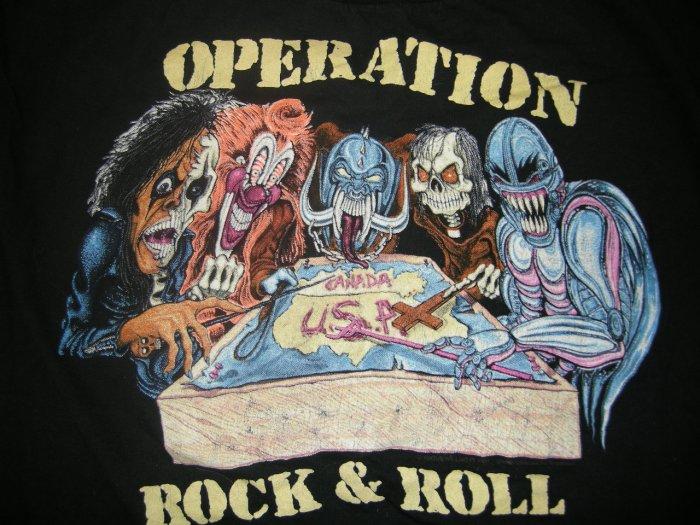 JUDAS PREIST 1991 TOUR SHIRT alice cooper motorhead dangerous toys metal church L VINTAGE