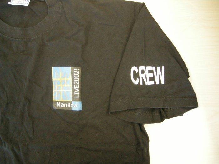 BARRY MANILOW SHIRT Live 2002 Tour XL CREW ONLY