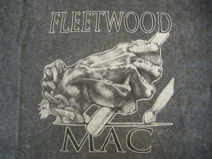 FLEETWOOD MAC SHIRT Discography drum stick grey XL