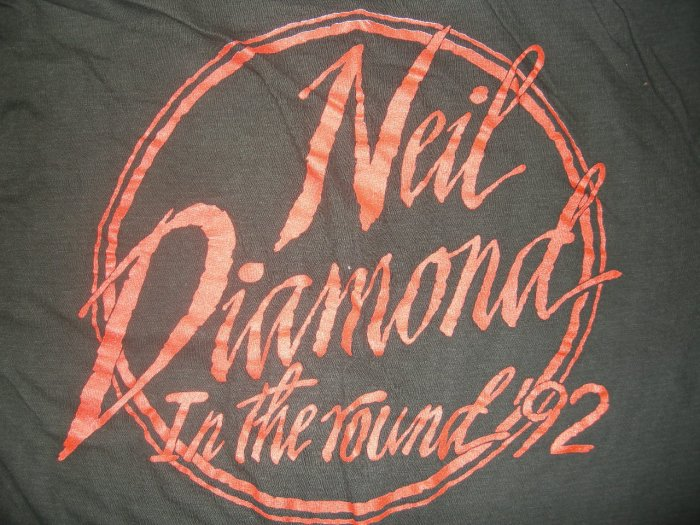 NEIL DIAMOND TOUR SHIRT 1992 In The Round Tour longsleeve sweatshirt L