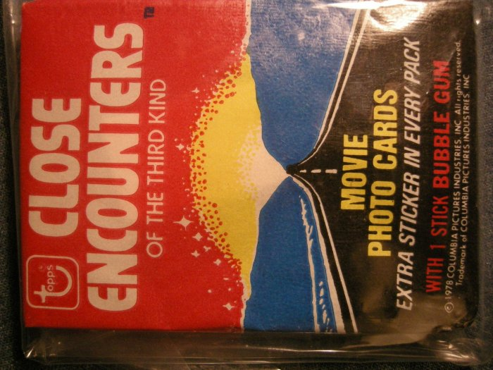 CLOSE ENCOUNTERS TRADING CARDS 1978 of the third kind ce3 SEALED PACK