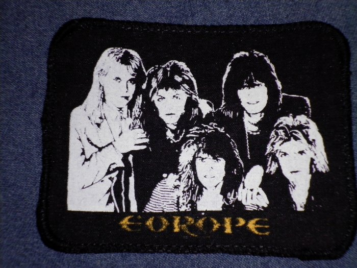 EUROPE sew-on PATCH band pic VINTAGE