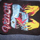 VENOM sew-on PATCH snake logo metal VINTAGE
