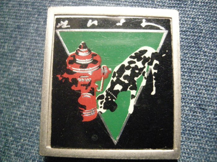 RUSH METAL PIN Signals dalmation badge VINTAGE