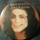 MICHAEL JACKSON PINBACK BUTTON brown face licensed 1997 NEW
