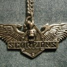 SCORPIONS METAL NECKLACE wings logo skull VINTAGE